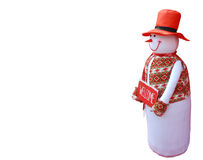 Snowman welcome Christmas background Stock Photo