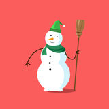 Snowman White Cartoon Snow Character Icon Royalty Free Stock Photography