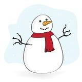 Snowman. on white celebrate  background Stock Photos
