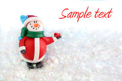 Snowman winter Stock Image