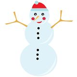 Snowman in winter stock photography