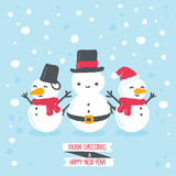 Snowman with winter background Stock Photography