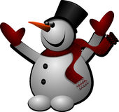 Snowman, Winter, Cold, Hat, Gloves Stock Image