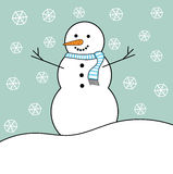 Snowman in winter Royalty Free Stock Photo