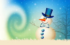 Snowman in winter Royalty Free Stock Photography