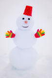Snowman in winter park Royalty Free Stock Image