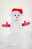 Snowman in winter park Royalty Free Stock Photography