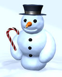 Snowman in winter Royalty Free Stock Photos