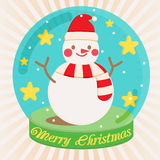 Snowman. Winter snow christmas cartoon Stock Photos