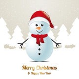 Snowman winter snow landscape brown white Stock Photos