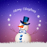 Snowman wishes you Merry Christmas Royalty Free Stock Photography