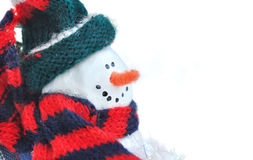 Snowman wrapped Royalty Free Stock Photo