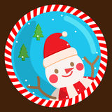 Snowman xmas. Snowman winter snow christmas cartoon Royalty Free Stock Image