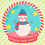 Snowman xmas. Snowman winter snow christmas cartoon Royalty Free Stock Photos