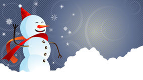 Snowman for your advert Royalty Free Stock Images
