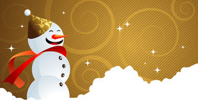 Snowman for your message Stock Photography