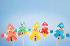 Snowmancakepops Arkivbilder