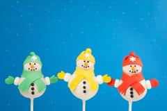Snowmancakepops Arkivbild