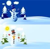 snowmancard Royaltyfri Bild
