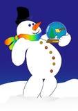 Snowmanhold Stockfotos