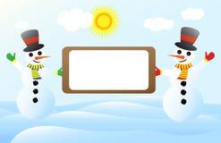 snowmanlabel Arkivbilder
