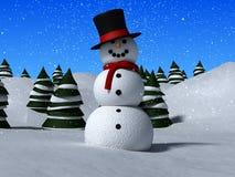 snowmann 3d Fotografia Stock Libera da Diritti