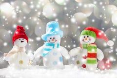 Snowmans на снеге Стоковое Изображение