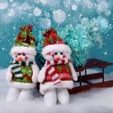 Snowmans украшений рождества Стоковое Изображение