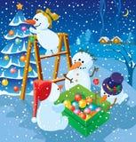 Snowmans Stock Image
