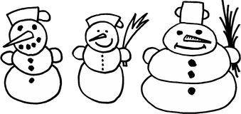 Snowmans Photo stock