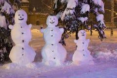 Snowmans Стоковое Изображение