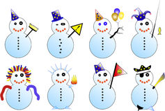 Snowmans Fotografia Stock