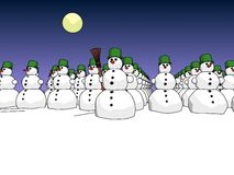 Snowmans army day Stock Image