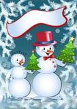 Snowmans divertidos. Imagen de archivo libre de regalías