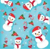 Snowmans felizes Ilustração Stock