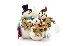 Snowmans lamp Royalty Free Stock Image