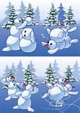 Snowmans (palle di neve) Fotografia Stock Libera da Diritti