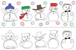 snowmans wektor royalty ilustracja