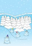 Snowmans and winter Royalty Free Stock Image