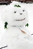 Snowmanskulptur Royaltyfri Foto