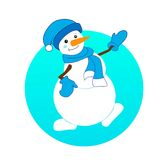 Snowmansmiling snowman Royalty Free Stock Photo