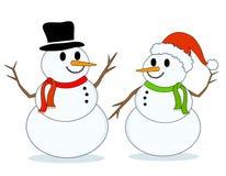 snowmansnowmen Fotografering för Bildbyråer