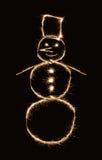 snowmansparkler Arkivfoto