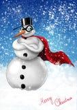 snowmansuperhero Royaltyfria Foton