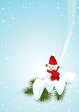 snowmanvertical Arkivfoto