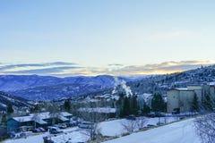 Snowmass太阳上升 库存照片