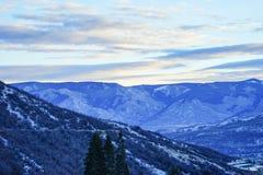 Snowmass太阳上升 免版税库存图片
