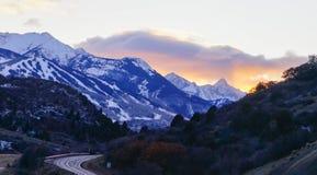 Snowmass aspen road landscape Stock Image