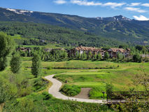 Snowmass condos. Vacation condos in Snowmass Colorado Stock Photos