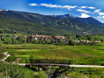 Snowmass condos Stock Photo